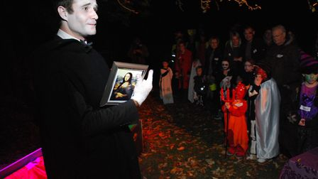 Spooky Walk at Lauderdale House 31.10.11. Pictured actor Luke Harrison as Count Dracula in one of th