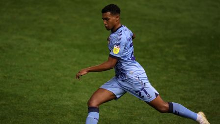 Coventry City's Sam McCallum in action during the Sky Bet Championship match at St Andrew's Trillion