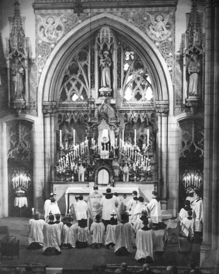 The original sanctuary at St Antony of Padua in Forest Gate. Picture: Brentwood Diocesan Archives