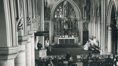 How the sanctuary in the St Antony of Padua originally looked. Picture: Brentwood Diocesan Archives