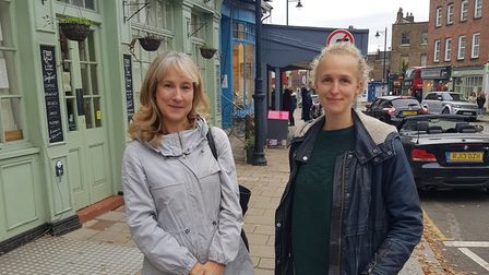 Highgate councillor Liz Morris (left) and Claire Norton from Highgate N6 Mutual Aid. Picture: Cllr Liz Morris