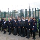 St Gregorys Y7 pupils with Helen Antoniou from the Northwick Park Rotary Club