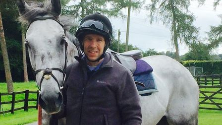 Matt Hancock is pictured with a horse. Photograph: JustGiving.