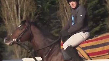 Health secretary Matt Hancock, a keen rider, galloped out on Star of Bengal for a photo opportunity