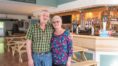 Landlords of the Belstead Arms in Ipswich, Mandy and Steve Byford, are organising free carvery lunch