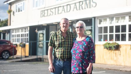 Landlords of the newly refurbished Belstead Arms, Mandy and Steve Byford. Picture: SARAH LUCY BROWN