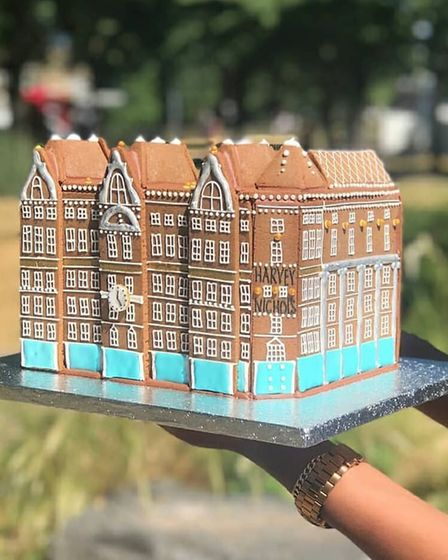 A creation by Maid of Gingerbread for Harvey Nichols' relaunch of its flagship store. Picture: Harve