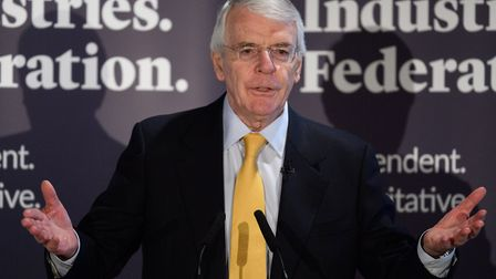 Sir John Major gives a speech on Brexit at Somerset House. (Photograph by Leon Neal/Getty Images).