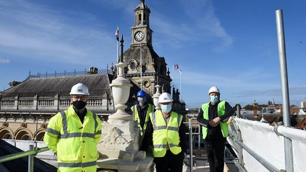Jack Inghem project manager, David Ellesmere, council leader, Hugh Bunberry, conservation architect, and Barry First from...