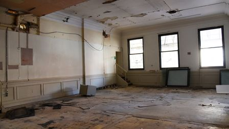 The interior of the Old Post Office will be left for the new tenants to complete. Picture: CHARLOTTE BOND