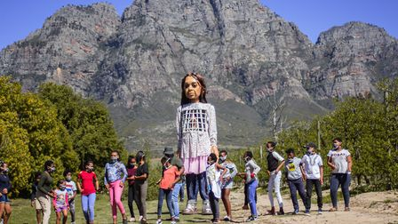 The Walk is a huge international arts project featuring the giant puppet of a 9 year old Syrian girl