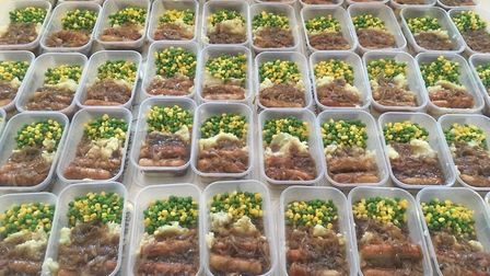 Islington People's Army has supplied 10,000 meals amid the pandemic. Picture: Submitted by The Peopl