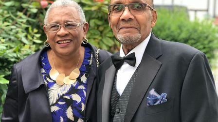 'Mr and Mrs MBE' Elva and Philemon Seal. Picture: H Sealy
