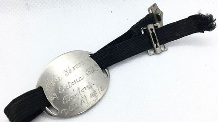 The identity bracelet belonging to Mollie Hercock. Picture: Stephen Wells