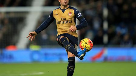 Arsenal's Santi Cazorla during the Barclays Premier League match at The Hawthorns, West Bromwich. Pi