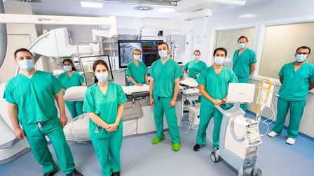 Staff at the Royal Free's heart attack centre have new 'state-of-the-art' imaging technology. Pictur