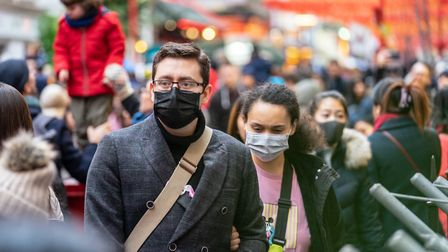 Face masks being worn in a town centre. Picture: Getty Images