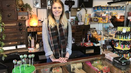 Lawra Stubbs, owner of Miss Quirky Kicks in Ipswich Picture: SOPHIE BARNETT