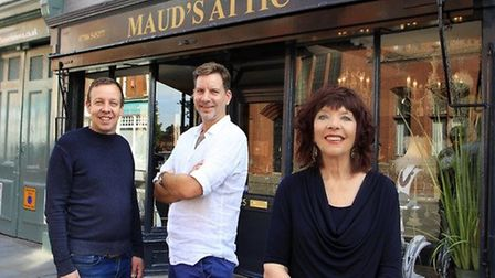 Wendy Childs, who owns Maud's Attic, with her sons who run the shop nextdoor Picture: PAUL NIXON PHOTOGRAPHY