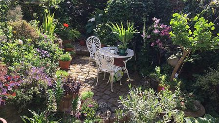 Sally Hull won the 'best back garden' prize. Picture: Islington Council
