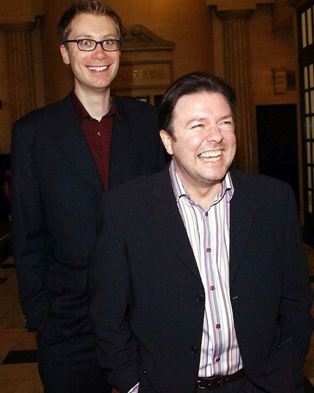 Ricky Gervais and Stephen Merchant met while working at Xfm and dreamed up sit-com The Office