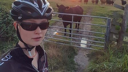 Mo cycled 160km overnight from 8pm to 8am. Picture: Submitted by Mo Maynard