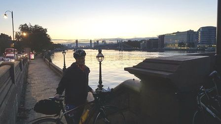 Highbury's Mo Maynard cycled for 12 hours overnight on October 8 to 9. Picture: Submitted by Mo Mayn