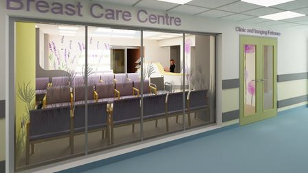 An artist's impression of how the entrance to the new Ipswich Breast Care Centre would look. Picture