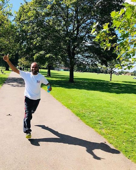 After he beat coronavirus he pledged to run a weekly sponsored 5k to raise money for families made d