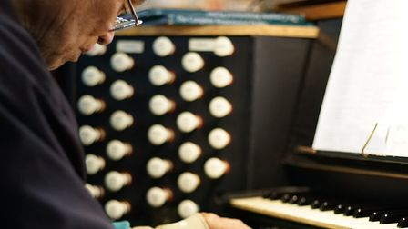Gilbert Reines, the organist at Holy Innocents church, has died aged 87. Picture: Manus Fraser