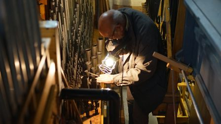 A film has been made by Manus Fraser about Gilbert and his construction of the organ. Picture: Manus