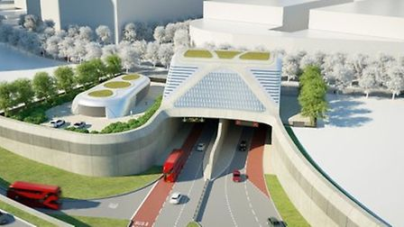 An artist's impression of the proposed Silvertown tunnel. Picture: TfL