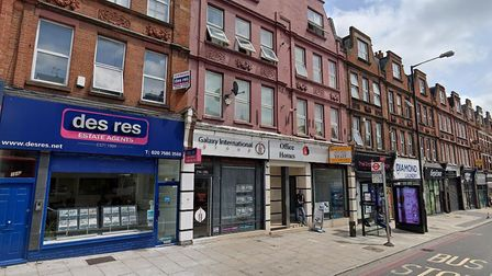 The area around 166-200 Finchley Road is contentious in the new Redington Frognal Neighbourhood Plan. Picture: Google