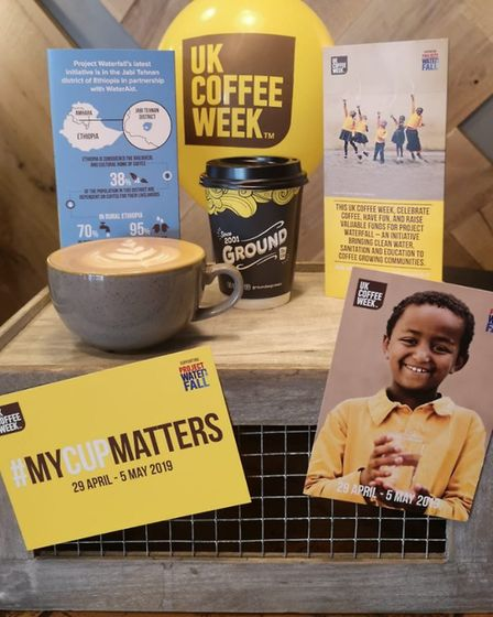 During UK Coffee Week, shops are donating money for hosting events in aid of Project Waterfall. Pict