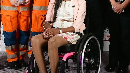 Thusha Kamaleswaran at the NHS Heroes Awards in 2018. Picture: PA/Ian West