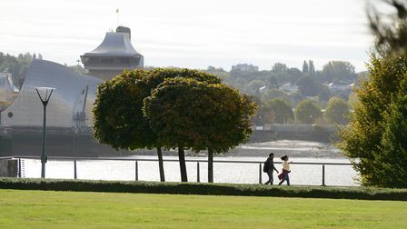 Thames Barrier Park retained the Green Flag Award for the third year in a row. Picture: Royal Docks