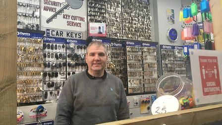 Brian McConnell, owner of Dyetts Locks & Keys in Willesden High Road. Picture: Nathalie Raffray