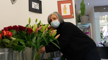 Shop Local - Maida Vale and St John's Wood. Mozhy Chipperfield, owner of Elgin Blooms florist in Elgin Avenue, Maida Vale.