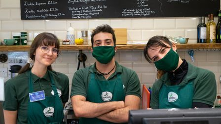Shop Local - Maida Vale and St John's Wood. Laurents cafe, St John's Wood High Street. Left to right: Maria Altamer...