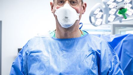 Dr Daren Francis prepares for surgery at the Royal Free in the first new episode of the BBC's Hospital. Picture: Ryan...