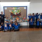 Vittoria Primary School pupils have collected donations for the Copenhagen Street Foodbank for Harve