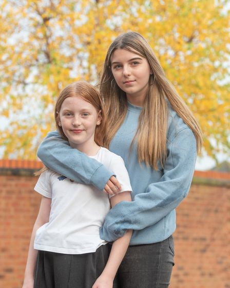 Everlyn and Maddison Butcher, who were both born through IVF. Picture: SARAH LUCY BROWN