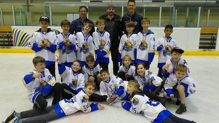 Haringey Hounds juniors face the camera (Pic: Haringey Hounds)