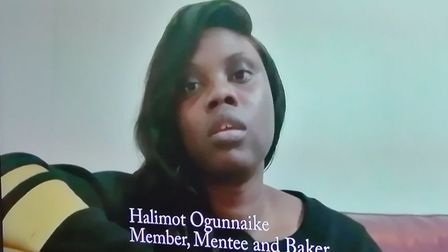 Halimot Ogunnaike of Haliberry Cakes and Catering, was a student of the Luminary Bakery and now runs
