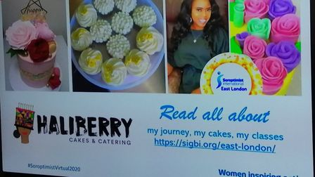 Halimot has not only set up her own baking business, she has also become a member of Soroptimist Eas