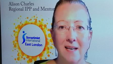 Alison Charles, a member of Soroptimist East London who lead the Luminary mentoring project. Picture