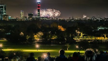 The view from Primrose Hill this Bonfire Night will not be like this. Picture: Submitted