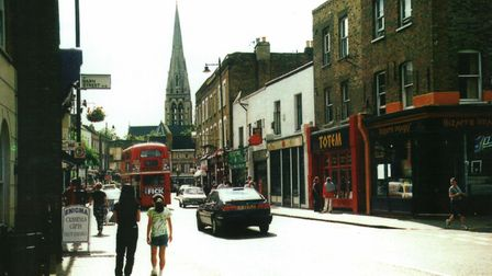 Church Street in 1997. Picture: Amir Dotan/Hackney Archives