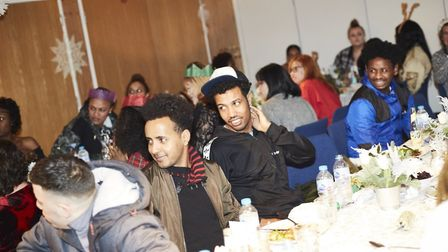 Last years Hackney Christmas Dinner for care leavers. Picture: Andrew Leo Photography