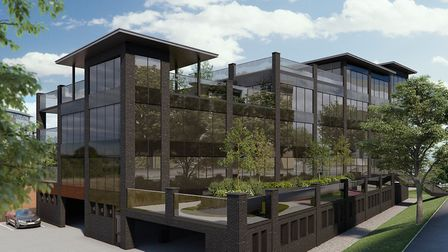 A CGI of the Coalyard on Chancery Road. Ipswich Picture: PERTWEE ESTATES